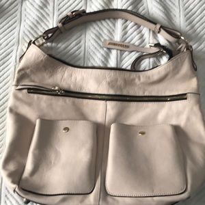 Cream color buttery soft leather bag
